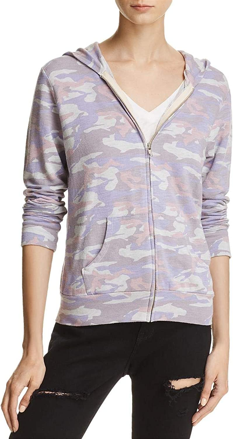 Monrow Womens French Terry Camouflage Hoodie