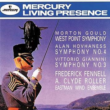 Gould: West Point Symphony/Hovhaness: Symphony No.4/Giannini: Symphony No. 3