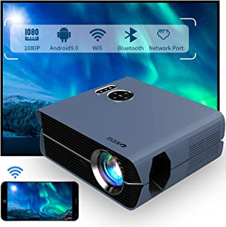 WiFi Smart LCD Projector 1080P Native Android 9.0 Bluetooth Wireless LED Full HD Home Theater Outdoor Movie Projectors 192...
