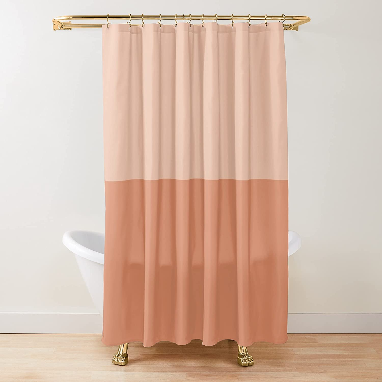 Half Finally popular brand Terracotta Fabric Shower Latest item Printed Custo Curtains