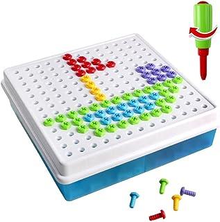 Brigamo 2401 – Kit de Bricolage mosaïque à emboîter à Visser Jouet de Construction Kit avec Outils pour Enfants