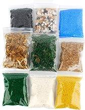 NWFashion Scenery Basing Material Kit,Stone,Snow,Grass,Moss Stick,River,Desert
