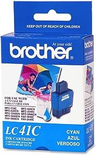 Brother Model LC41C Cyan Inkjet Cartridge