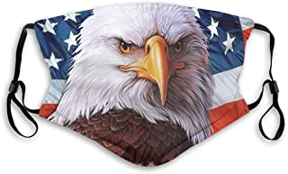 American flag patriot Face Mask Bandana Sport Windproof Balaclava Dust Wind For Outdoor Activities