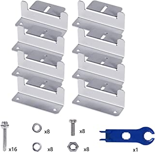 Solar Panel Mounting Z Brackets with Nuts and Bolts - for RV, Boat, Roof, Wall and Other Off Gird Solar Panel Mounting (a Set of 4 Units) (2 Sets)