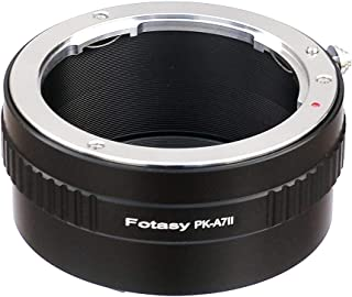 Fotasy PK Lens to Sony FE Mount Adapter, K Mount E Adapter, Compatible w Pentax K Lens & Sony a7 a7 II a7 III a7R a7R II a7R III a7S a7S II a7S III a9 a7R IV a6600 a6500 a6400 a6300 a6100 a6000