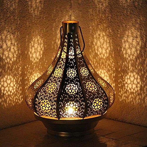 albena shop 71-5240 orientalisches Windlicht Laterne 30cm Metall (Jadoo 30cm Gold)