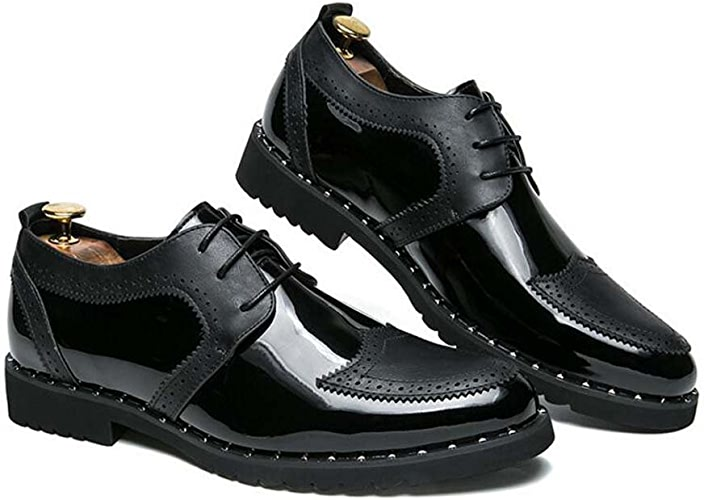 Men's Business Casual Chaussures New Youth Trend Men's chaussures Confortable Lumière Noir Or Argent Taille 39-44