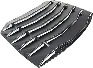 IKON MOTORSPORTS Window Louver Compatible With 2013-2019 Scion FR-S Subaru BRZ   Black Rain Sun Guard Wind Deflector Visors