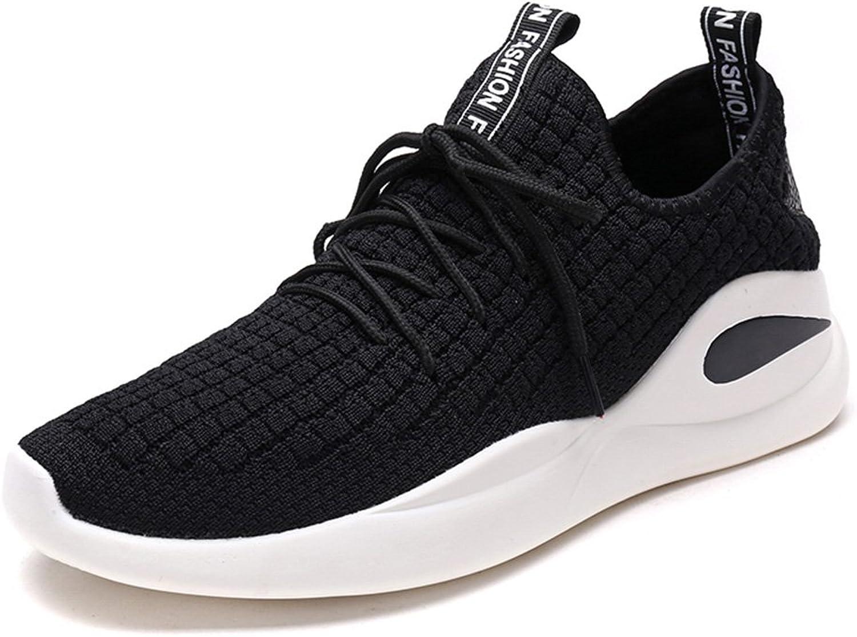 Men's shoes Feifei Spring and Autumn Leisure Wear-Resistant Sports shoes 3 colors (color   Black, Size   EU39 UK6 CN39)
