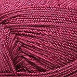 ElbSox Merino - 4 Uni - 012 - Vino tinto - Calcetines de lana merina para tejer y hacer ganchillo