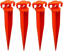 "THE UM24 Pack of 4-11"" Ground Stake Stick Strong Outdoor Camping Tent Or Garden Pegs– Orange (11 inches - 4PC)"