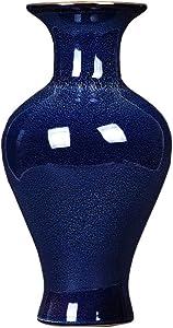 YC electronics Décoration d'intérieur Jarrón De Cerámica Chino Que Se Cambia La Porcelana Azul Salón Arreglos Florales Decoración del Hogar Adornos Vase à Plantes Cadeau Idéal (Color : C)