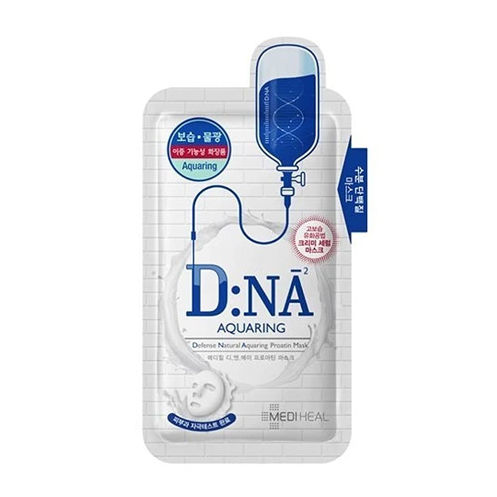 エスカレート作家絶望メディヒールタンパク質フェイスマスクパック 25g x 10枚 [ Mediheal DNA Proatin Face Mask Pack (Aquaring) 25g x 10ea ] [海外直送品][並行輸入品]