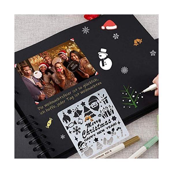 61dc3nSfPgL. SS600  - YCM Fotoalbum, Fotoalbum zum Selbstgestalten, DIY Fotobuch 80 Seiten, Größe 28.5x21cm, Kann als Abschluss Geschenk, Geburtstagsgeschenk, Hochzeitstagsgeschenk und mehr verwendet Werden