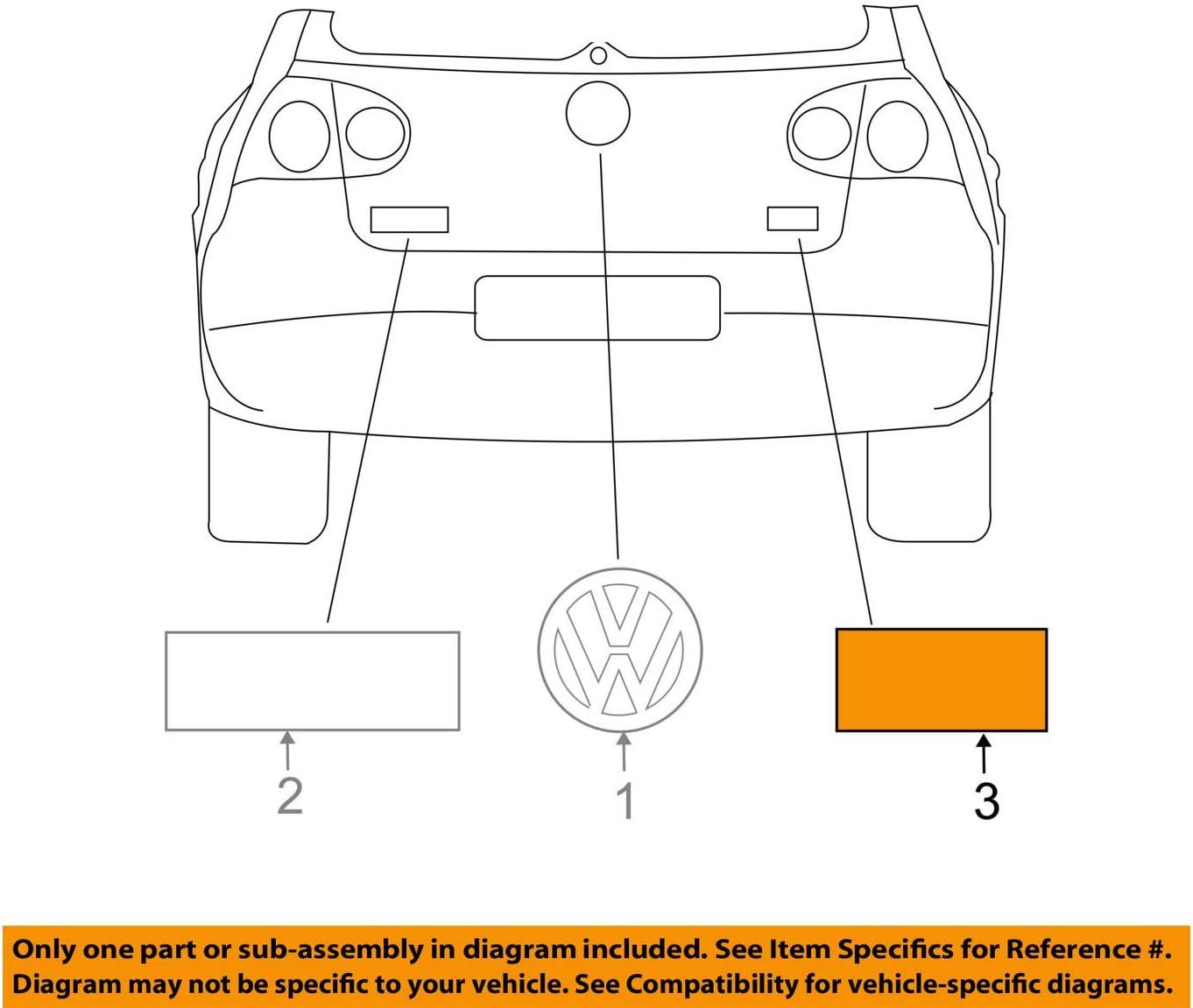 Volkswagen Ranking TOP1 OEM New Mail order 2010-2013 VW Golf Base 5K0-853- Gas Nameplate