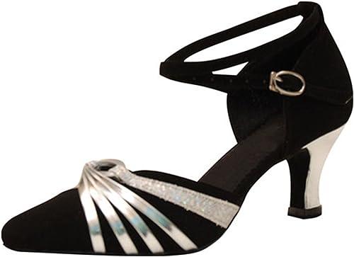 YFF Cadeaux Femmes Dance Danse Danse Latine Dance Tango Chaussures 5CM,argent,35