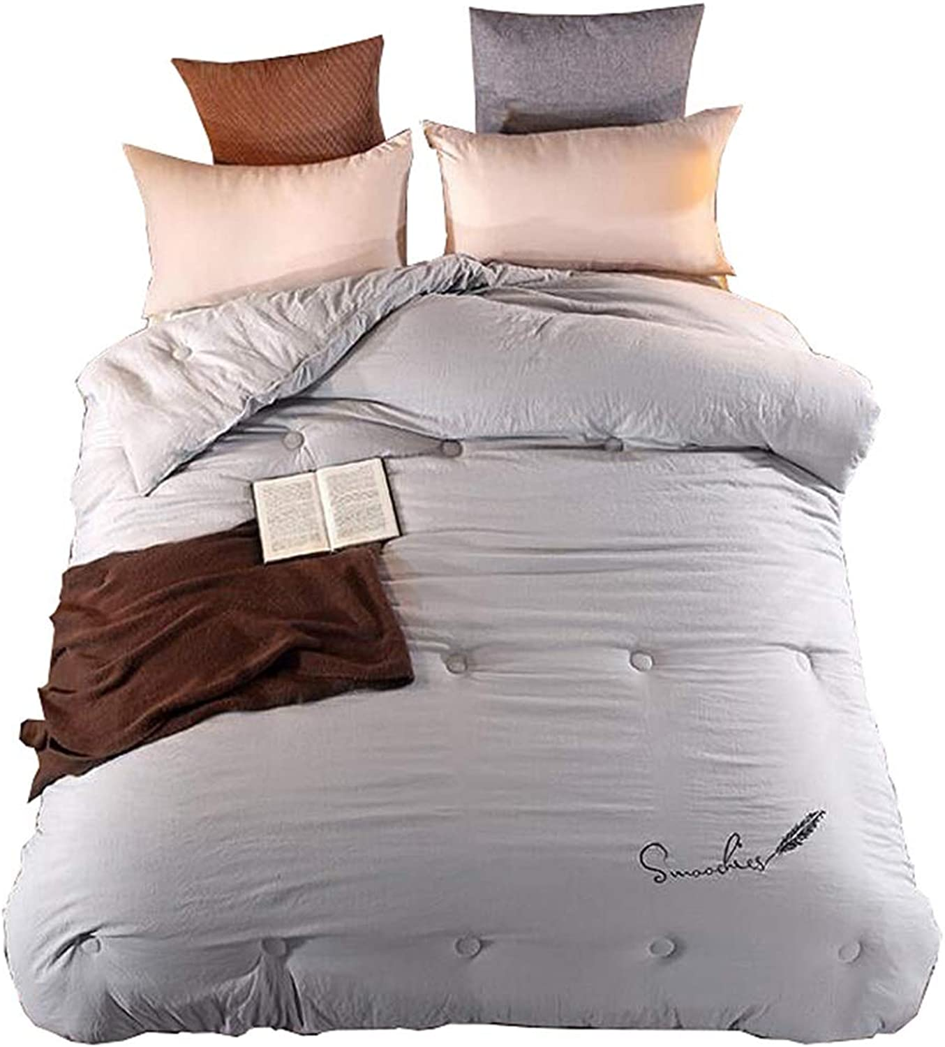 Quilt with Corner King Size Bedding Set Loops Anti-Allergenic and Dust Mite Resistant Super King Warm and Soft for All Season (Size   150cmx200cm2kg)
