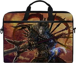 Lu Bu Dynasty Warriors 8 Warrior Armor Spear Laptop Shoulder Messenger Bag Case Sleeve for 14 Inch to 15.6 Inch with Adjustable Notebook Shoulder Strap