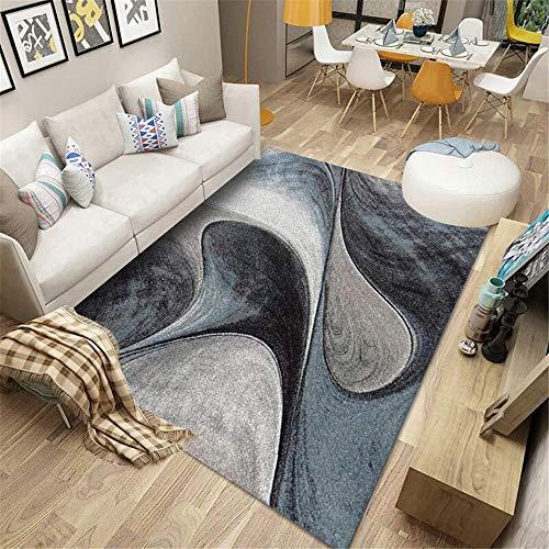 "alfombras Infantiles Grandes Alfombra Rectangular para Sala de Estar Gris Antimanchas, Antideslizante, Lavable a máquina Alfombra de Exterior Alfombra Exterior terraza 100X150CM 3ft 3.4"" X4ft 11.1"""
