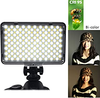 LED Dimmable Ultra High Power Panel Digital Camera//Camcorder LED Video Light for Canon Nikon Pentax Panasonic Sony Samsung and Olympus Digital SLR Cameras Upgrade Mcoplus MCO-260A CRI95