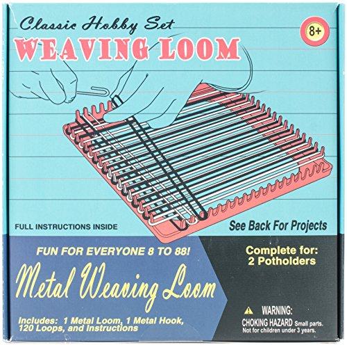 Pepperell Weaving Loom Retro Craft Kit, Pink