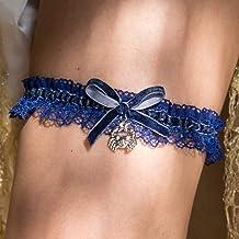 Giarrettiera velluto nozze matrimonio sposa biancheria intima regali de nozze blu signo zodiacale