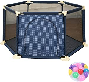 L TSA Safety Gates Baby Playard Toddler Play Tent with 200 Balls  Mesh Baby Playpen 6-Panel for Indoors Outdoors and Parks