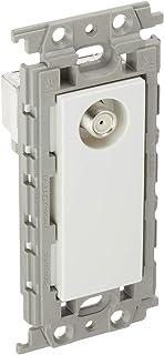 パナソニック(Panasonic) コスモシリーズワイド21 埋込高シールドテレビコンセント 1端子 送り配線用 ホワイト WTF4364W