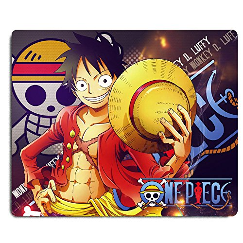 REINDEAR 9.5x8 One Piece Pirates Water Resistant Mouse Pad Mouse Mat US SELLER (Monkey D. Luffy) by REINDEAR