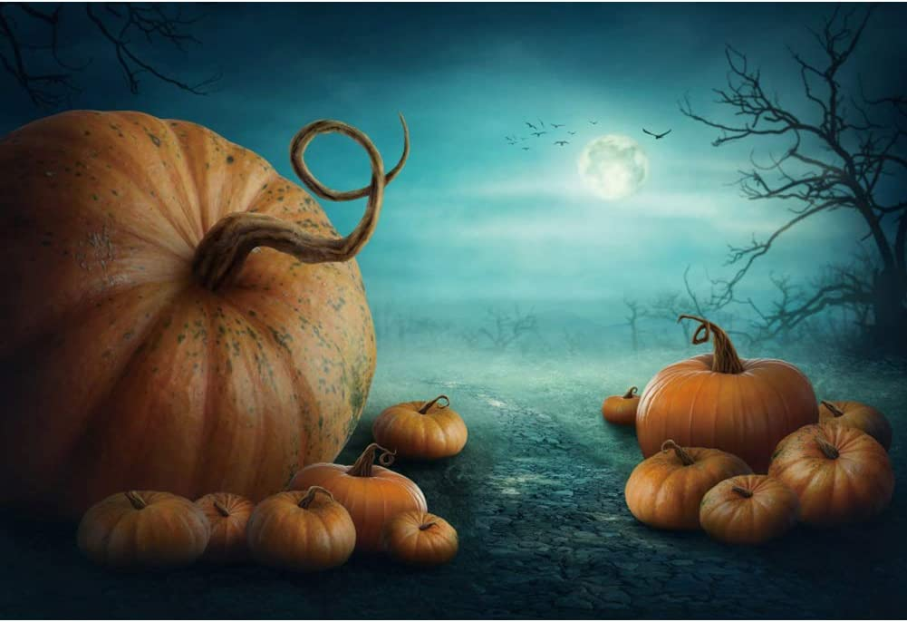 Happy Horror Party Halloween Backdrop 6x8ft Polyester Photography Background Spooky Skulls Gloomy Forest Bat Pumpkin Children Kid Portraits Photo Vedio Studio Props