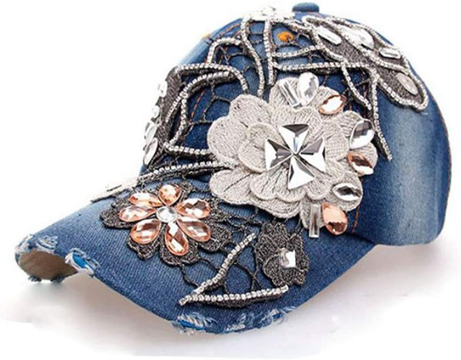Womens Luxury Claw Chain Baseball Cap Classic Washed Twill Cotton Adjustable Trucker Hat