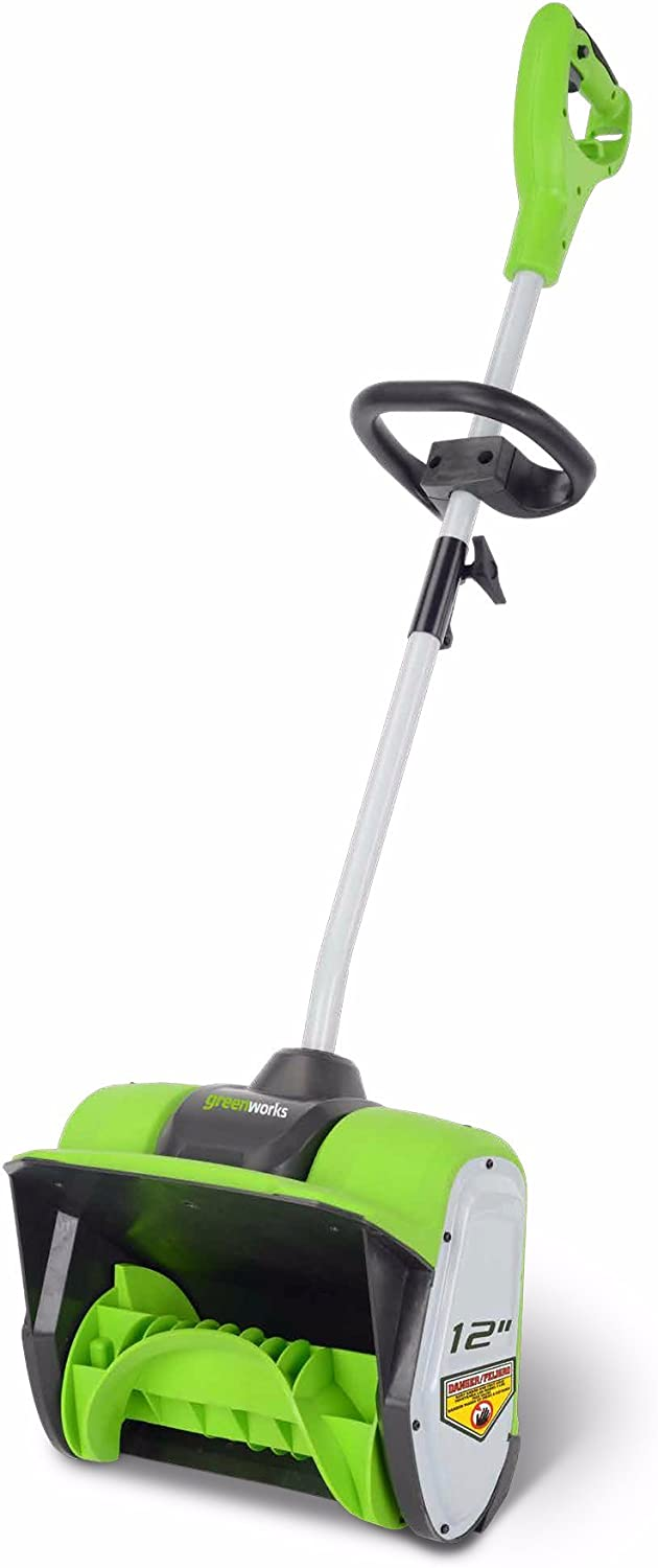 Greenworks 8 Amp 12 Ranking integrated 1st place Recommendation inch Shovel Electric Snow