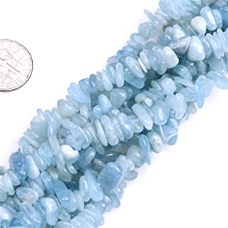 5-8mm Natural Aquamarine Chips Beads Chip Loose Gemstone Beads for Jewelry Making Strand 35 Inch