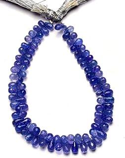 Jaipur Gems Mart Piedra Preciosa de tanzanita Natural 7x4MM Tamaño aproximado Briolettes con Forma de lágrima facetada 8 P...