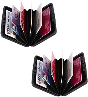 2 Pack Rfid Scan Protected Aluminium Wallet Bank Credit Card ID Holder Slim Money Travel Wallet Stainless Steel Box Case f...