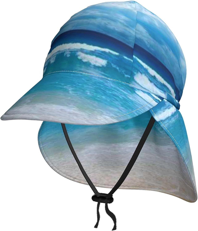 Ocean Austin Mall Beach Blue Kids Outlet SALE Sun Hat with Brea Summer Neck Flap