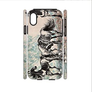Babu Building for iPhone X Xs Apple with Asian Horse Artists Phone Shell Hard Pc and Silica Gel Man Protective