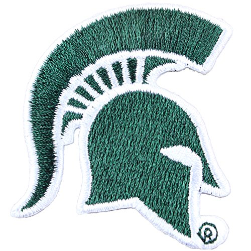 Michigan State Spartans Helmet Logo Iron On Embroidered Patch Small