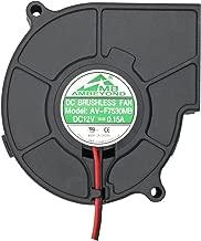 75mm x 30mm 7530 12V Dual Ball Bearing DC Brushless Cooling Blower Fan AV-F7530MB UL CE