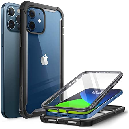 Black 2020 Release Shockproof Anti-Fall Hard PC TPU Bumper Case with Built-in Screen Protector Anwaut Compatible with iPhone 12 Case//for iPhone 12 Pro Case 6.1 inch