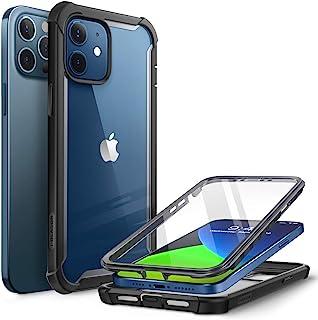 """i-Blason iPhone 12 / iPhone 12 Pro Hülle (6.1"""") Bumper Case 360 Grad Handyhülle Transparent Schutzhülle Cover [Ares] mit D..."""