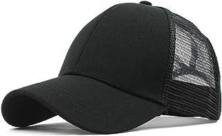 DADKA للجنسين قبعة بيسبول قناع الشمس قبعة ذيل الحصان فوضوي كعكة سائق الشاحنة قبعة رياضية عادية