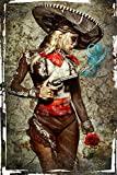 El Mariachi Muerte Amore by Daveed Benito Cool Wall Decor Art Print Poster 12x18