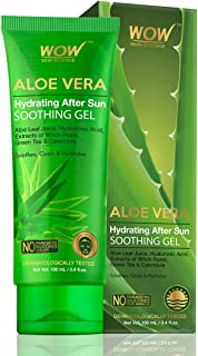 WOW Skin Science Aloe Vera with Hyaluronic Acid, Witch Hazel Extract, Green Tea & Calendula Hydrating After Sun Soothing Gel - 100 mL
