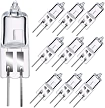 Sincher G4 Halogen Light Bulb, 10 Pack 20W 12V G4 Halogen Bi-Pin Bulb, 260LM, 2800K Warm White Clear Lamp