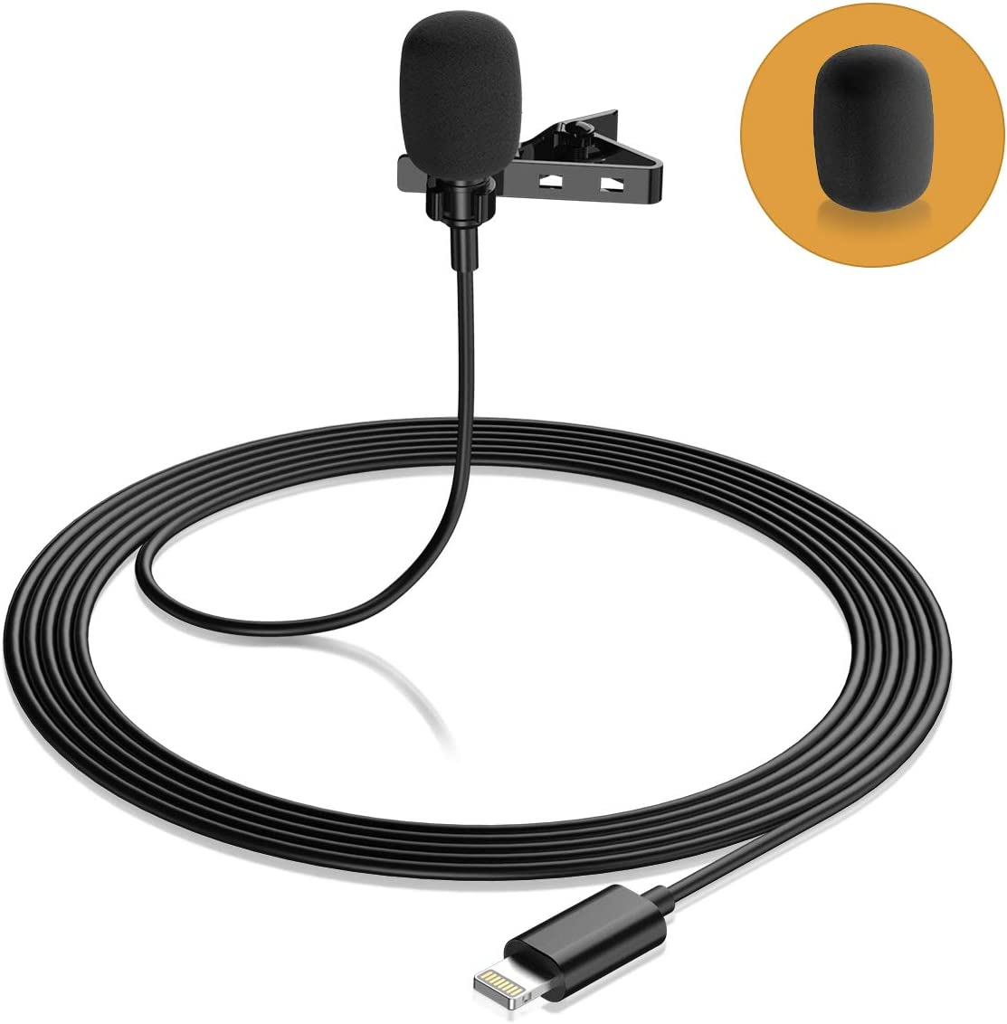 Lavalier Lapel Microphone for iPhone Max 55% OFF Professional Eafing Lav gift Mi