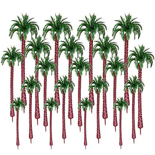 Spieland 20St. Modell Bäume Palmen Coconut Baum Modellbaum Set für Mini Landschaft Landschaftsgestaltung