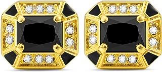 Cat Eye Jewels Mens Classic Cufflinks for Wedding Business Luxurious Tuxedo Formal Shirts Black Blue Red