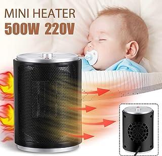 LQ&XL Calefactor Portátil Eléctrico Mini Silencioso Rápido de Elementos de Calefacción de PTC, Calentador de Escritorio Bajo Consumo de Energía de 500W Vatiospara Baño Oficina Dormitorio